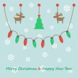 Ampoules de Noël de partie Images libres de droits