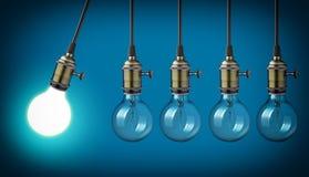 Ampoules de vintage illustration libre de droits