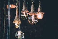 Ampoules de vintage d'edison de filament antique décoratif de style Photographie stock