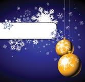 Ampoules et flocons de neige de Noël Photographie stock libre de droits
