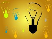 Ampoules - idées neuves Image libre de droits