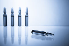 Ampoules with medicine closeup Stock Photography