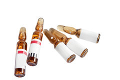 Ampoules with medicine Stock Photo