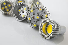 Ampoules menées exposées sans glissière et optique de couverture image libre de droits
