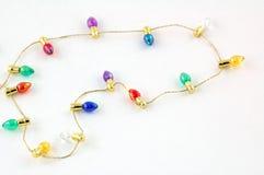 Ampoules minuscules brillamment colorées Images libres de droits