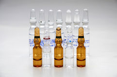 AMPOULES FOR PHARMACEUTICAL USE Royalty Free Stock Photos