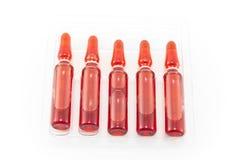 Ampoules pour des injections de la vitamine B12 Photo stock