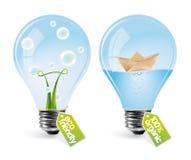 Ampoules réalistes d'eco - positionnement 3 Images stock