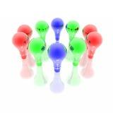 Ampoules rouges, bleues et vertes Illustration Stock