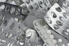 Ampoules vides de pillules Image libre de droits