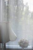 Ampshade en bloemen Stock Afbeelding
