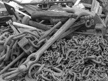 Ampuła łańcuchy & kotwicy Zdjęcia Stock