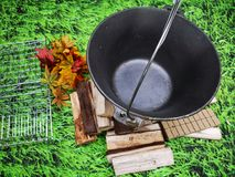 Ampuła ciskający żelazo - łupka pod fotografia royalty free
