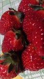 Ampuła, czerwień, świeża truskawka Fotografia Royalty Free