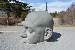 Ampuła kamienia głowa - zgłębia w myśli, medytaci/ obraz stock