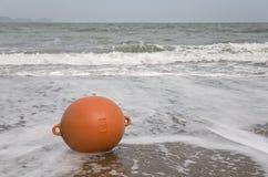 Ampuła pławik na plaży Obrazy Royalty Free