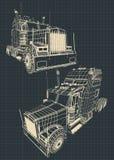 Ampuła przewozi samochodem projekty royalty ilustracja