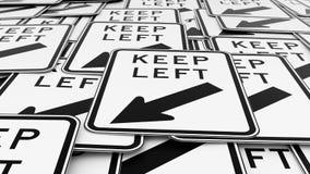 Ampuła rozkazywał stos opuszczać ruchów drogowych znaki czarny i biały utrzymanie ilustracji