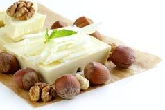 Ampuła zakazuje białych czekoladowych kawałki Obraz Royalty Free