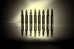 Ampułki z medycyny zbliżeniem Fotografia Stock