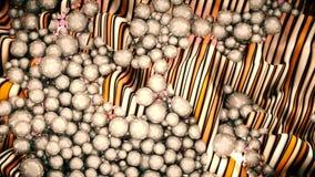 Ampuły grupa żółci abstrakcjonistyczni okręgi, perły lub sfery Obrazy Stock