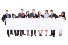 Ampuły grupa biznesmeni przedstawia sztandar zdjęcia stock
