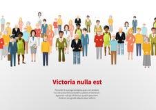 Ampuły grupa kreskówka wektoru tła ludzie Obraz Royalty Free