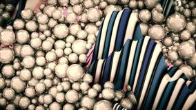 Ampuły grupa popielaci abstrakcjonistyczni okręgi, perły lub sfery Obrazy Stock