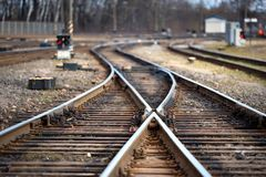 Ampuły linii kolejowej pusty rozwidlenie obraz stock