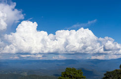 Ampuła chmurnieje niebo Zdjęcia Stock