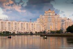 Ampuła dom w centrum miasta Minsk Zdjęcia Stock
