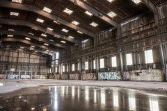 Ampuła zaniechany hangar Zdjęcie Royalty Free