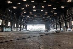 Ampuła zaniechany hangar Fotografia Royalty Free