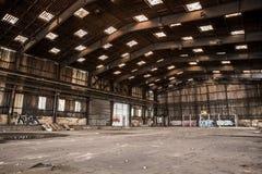 Ampuła zaniechany hangar Obrazy Stock