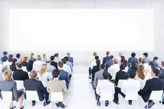 Ampuła Grupuje Biznesową prezentację Zdjęcia Stock