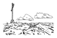 Ampuła krzyż Obrazy Royalty Free