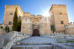 Ampudia Castle at sunset Stock Photos