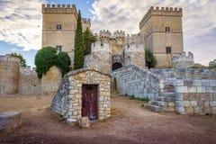 Ampudia-Schloss Stockfotos