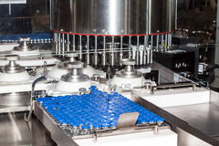 Ampule filling machine. Automatic ampule filling machine, equipment in pharmaceutical industry Stock Photography
