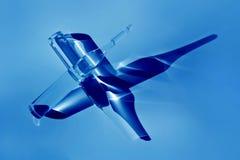 2 ampules в голубом свете Стоковое Изображение RF