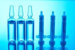Free Ampules And Syringes Royalty Free Stock Photo - 12877975