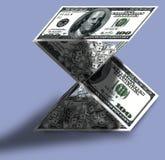 Ampulheta feita dos dólares Fotos de Stock
