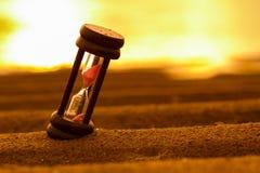 AMPULHETA NA AREIA Foto de Stock