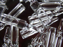 Ampulla. Vials full of clear liquid Stock Photo
