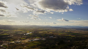Ampurdan Emporda valley Stock Photography