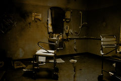 Amputation House. Horror Is Captured Inside An Abandoned Old Decrepit Hospital Known As Amputation House Royalty Free Stock Image