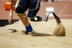 Free Amputee Athlete With Prosthetic Stock Photography - 137659262