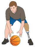 Amputee Basketball Player Royalty Free Stock Photos