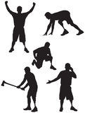 Amputee Silhouettes 2 Royalty Free Stock Photography