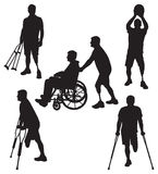Amputee Silhouettes 11 Stock Images